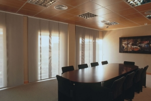 sala de reuniões cortina fantastica