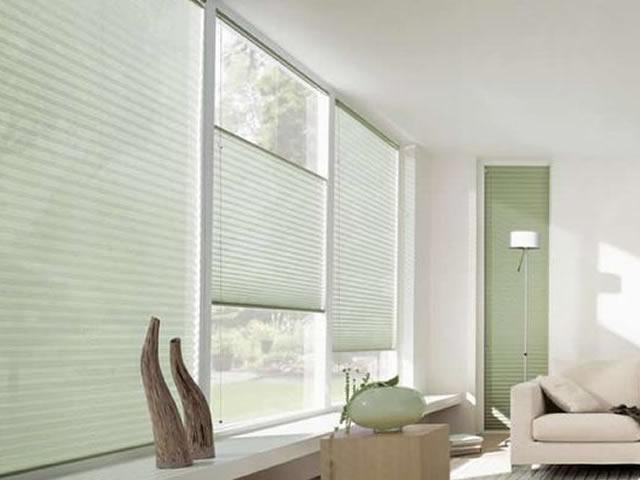 cortina plissada para sala