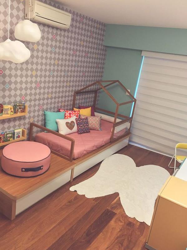 Cortina double vision para quarto infantil